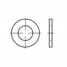 DIN 125-1 сталь 140 HV форма A гарячоцинковані шайби без фаски 21 x37 x3 (200 штук)