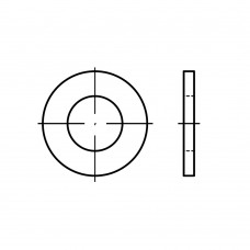 DIN 125-1 сталь 140 HV форма B шайби з фаскою (перфоровані) оцинковані 10,5 x 20 x2 (1000 штук)