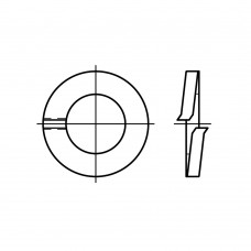 DIN 127 пружинна сталь форма A пружинна шайба (гровера) A 22 (100 штук)