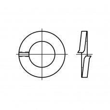 DIN 127 пружинна сталь форма B цинкове покриття пружинна шайба (гровера) гладка B 10 (1000 штук)