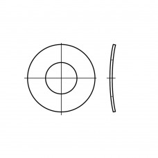 DIN 137 1.4310 форма B пружинні шайби, хвилясті B 20 (25 штук)