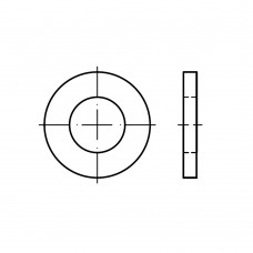 DIN 1440 сталь шайби для шпильок суцільнометалеві класс точності A (m) розмір: 20 x 32 x 4 (200 штук)