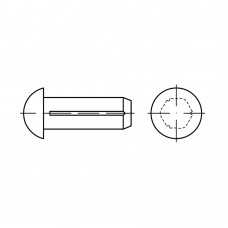 DIN 1476 1.4303 (A2 нерж.) штифти з напівкруглою головкою та засічкою розмір: 3 x 10 (100 штук)