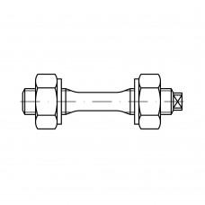 DIN 2510 1.7218 форма F AD W7 шестигранні гайки для шпильки для фланцевих з'еднань, суцільнометалеві форма розмір:F M 39 (1 штука)