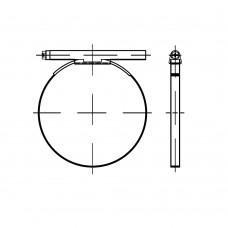 DIN 3017 сталь (W1) форма B1 цинкове покриття хомут червячний з Spвnbackeсуцільнометалеві розмір: 44/20 (100 штук)