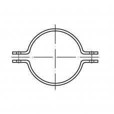 DIN 3567 сталь форма A гарячоцинковані хомут на пів труби суцільнометалевий розмір: A 220 /W 200 (1 штука)