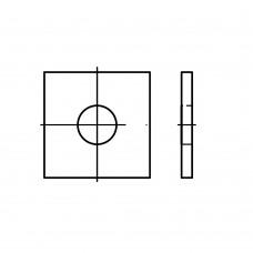 DIN 436 сталь шайби, квадрат, в основному для деревянних конструкцій розмір: 39 x 110 x 8 (25 штук)