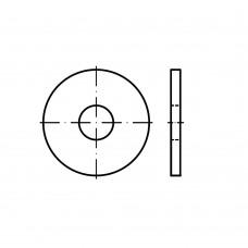 DIN 440 сталь 100 HV форма R цинкове покриття шайби, R = з круглим отвором розмір: R 30 x 98 x 6 (25 штук)