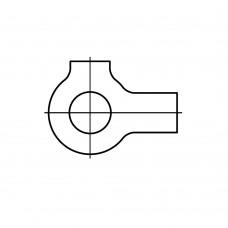 DIN 463 сталь шайби з 2 лапками розмір: 43 (25 штук)