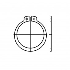 DIN 471 1.4122 стопорне кільце для вала, стандартне виконання розмір: 48 x 1,75 (10 штук)