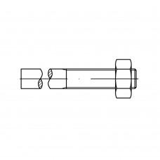 DIN 525 Mu 3.6 шпілька приварна з шестигранною гайкою розмір: M 16 x 190/ 65 (25 штук)