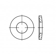 DIN 6796 A2 нерж. зажимні упругі (тарільчаті) шайби для болтових з'еднань розмір: 10 x 23 x 2,5 (500 штук)