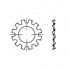 DIN 6797 пружинна сталь форма A цинкове покриття зубчаті шайби, зовнішні зубци розмір: A 23 (100 штук)