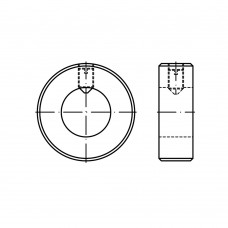 DIN 705 A1 нерж. форма A кільце стопорне, легка серія, з установочним гвинтом розмір: A 15 x 25 x 12 (10 штук)