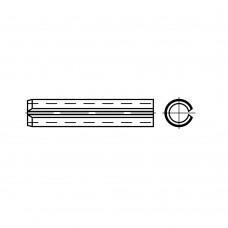 DIN 7346 пружинна сталь штифт разрізний, легка форма розмір: 10 x 36 (100 штук)