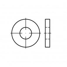 DIN 7349 сталь 200HV цинкове покриття шайби для болтових з'еднань, посилені розмір: 10,5 x25 x 4 (500 штук)