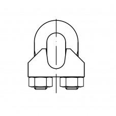 DIN 741 сталь цинкове покриття зажим троса з U-образним фіксатором розмір: 16 MM / M 12 (10 штук)