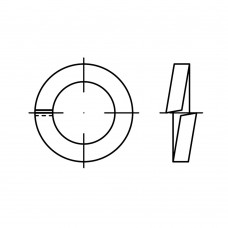 DIN 7980 пружинна сталь цинкове покриття пружинні шайби (Гровера) для гвинт з циліндричною головою розмір: 10 (100 штук)