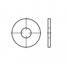 DIN 9021 сталь 140 HV жовтий цинк шайби, зовнішній Ø ~3 x внутрішній Ø, класс точності A/C розмір: 5,3 x15 x1,2 (1000 штук)