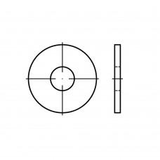 DIN 9021 сталь 140/100 HV цинкове покриття шайби, зовнішній Ø ~3 x внутрішній Ø, класс точності A/C розмір: 4,3 x 12 x1 (500 штук)