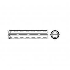 ISO 13337 пружинна сталь штифт спіральний, разрізний, легка форма розмір: 3 x 8 (200 штук)