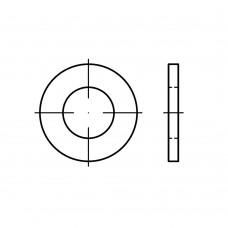 ISO 7089 латунь нікелеве покриття плоскі шайби, нормальна серія, класс точності A, без фаски розмір: 6 (1000 штук)