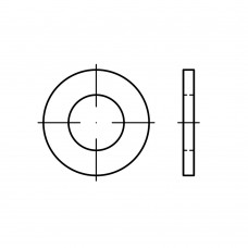 ISO 7089 сталь 200 HV цинкове покриття плоскі шайби, нормальна серія, класс точності A, без фаски розмір: 14 (250 штук)