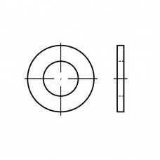 ISO 7094 сталь 100 HV плоскі шайби, дуже збільшена серія, класс точності C розмір: 22 (50 штук)