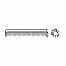 ISO 8752 1.4310 штифт спіральний, разрізний, важка форма розмір: 5 x 32 (50 штук)