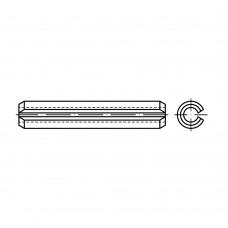 ISO 8752 пружинна сталь цинкове покриття штифт спіральний, разрізний, важка форма розмір: 6 x 12 (100 штук)